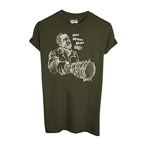T-Shirt WALKING DEAD EENY MEENY - FILM by Mush Dress Your Style - Uomo-L-Verde Militare