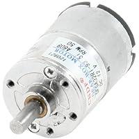 Sourcingmap a13053100ux0113 - Motor de 50 rpm 12vcc 2p diámetro del eje 6 mm 2 pines eléctrica caja de engranajes