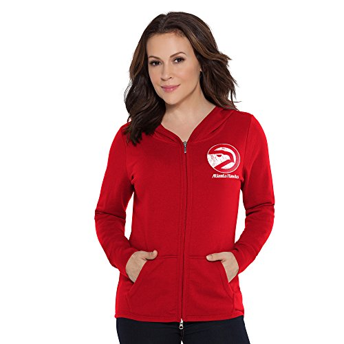 Touch by Alyssa Milano NBA Tackle Hoodie, Damen, Hardwood Classic Tackle Hoodie, rot, X-Large Womens Primary Zip Hoody
