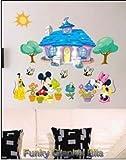 ENFANTS STICKERS MURAUX GRAND DISNEY MICKEY MOUSE MINNIE AUTOCOLLANTS FILLES CHAMBRE DE MUR CHAMBRE DECOR Décoration Sticker Adhesif Mural Géant Répositionnable...