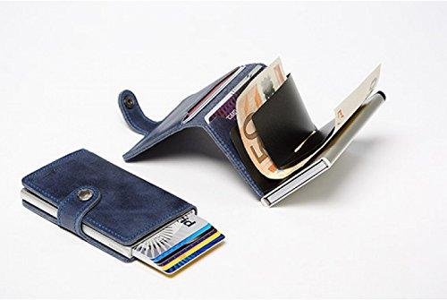 Secrid-porta carte di credito in pelle e alluminio