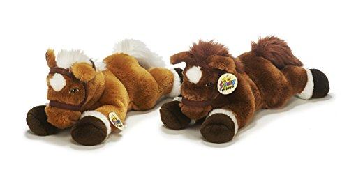 Unbekannt Sunny Toys 30160 - Plüsch Pferd mit Halfter liegend, circa 36 cm, 2 Farben sortiert