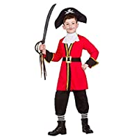 Kids Boys Pirate Captian Fancy Dress Costume