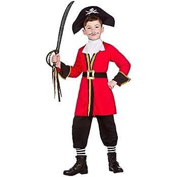 Childrens Cappello da Pirata NERO Pirates of the Carribean Fancy Dress Party