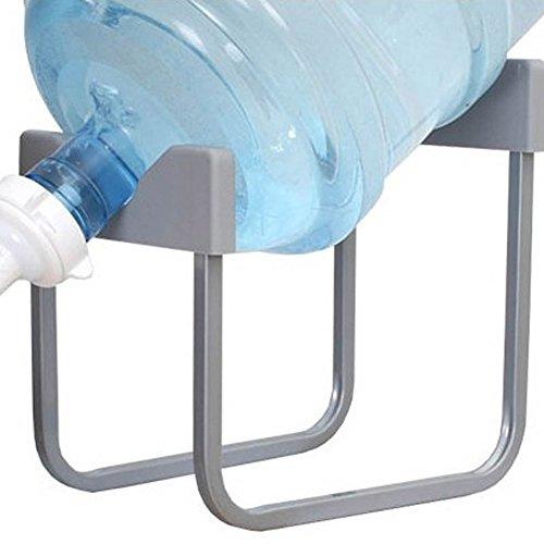 ZREAL Metall Gallon Wasserkrug Stand mit 55mm Dispenser Düsenventil Rutschfeste Trinkwasserkühler Halter Rack Rattan-halter