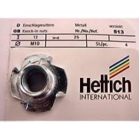 Stahl verzinkt 0360706 Hersteller Metafranc Artikel-Nr HKB /® 4 St/ück Einschlagmutter M8 x 11 mm