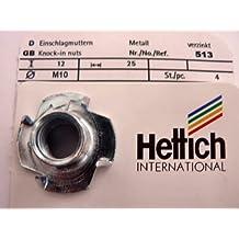 509 HKB  /® 8 St/ück Einschlagmuttern Hersteller Hettich Artikelnr Stahl verzinkt M4