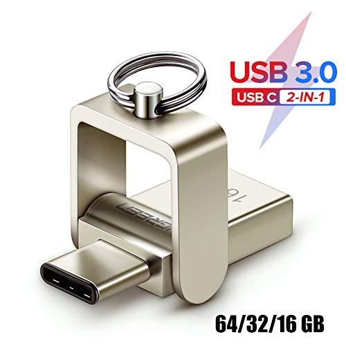 Tragbares USB-Flash-Laufwerk 3.0 USB C Pendrive 16 32 GB OTG-Speicherstick Pendrive Thumbdrive Pen Drive für PC-Smartphones,16GB (Low-profile-usb-flash-laufwerk 3)