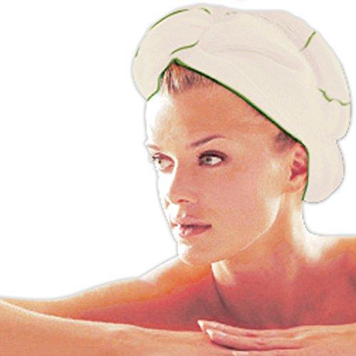 Turban sèche cheveux bambou - Ecru