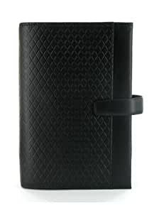 Filofax Adelphi Personal Leather Organizer Black 024502
