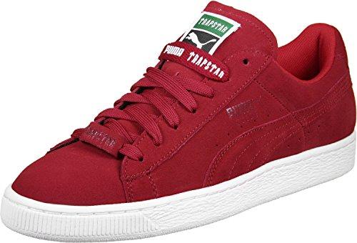 Puma x Trapstar Suede chaussures 10,5 barbados cherry/white