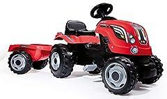 Idea Regalo - Smoby 7600710108 - Trattore Farmer XL Rosso con Rimorchio
