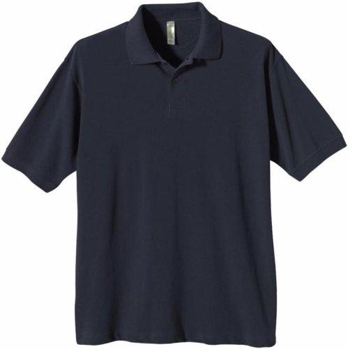 econscious Herren Poloshirt aus 100% Bio-Baumwolle Pique, Herren, Pacific, Medium -
