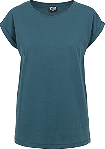 Urban Classics Damen T-Shirt Ladies Extended Shoulder Tee Türkis (Teal 1143), X-Large