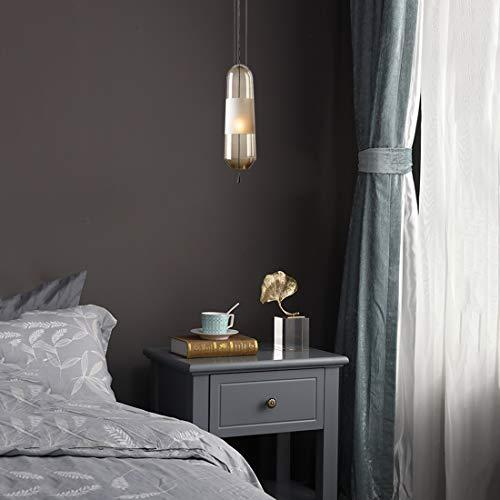 HangRay Kleine Pendelleuchte am Bett, Lampenschirm aus Plexiglas/vertikaler Lampenkörper, ideal für das Restaurant neben dem Sofa, Wohnzimmer Schlafzimmer,Amber -