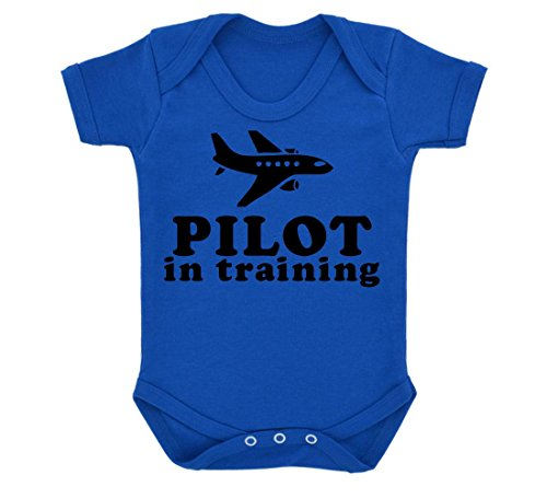 pilot-in-training-design-baby-body-royal-blau-mit-schwarzem-print-gr-68-blau-knigsblau