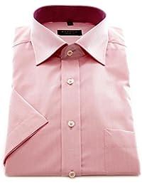 ETERNA Herren Kurzarm Hemd Comfort Fit Chambray rosa mit Patch 8500.51.K147