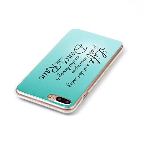 Pour Apple iPhone 7 4.7 Coque,Ecoway Housse étui en TPU Silicone Shell Housse Coque étui Case Cover Cuir Etui Housse de Protection Coque Étui –YH-10 YH-13