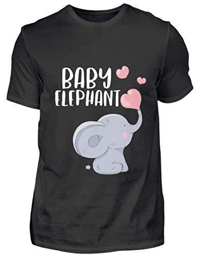 Baby Elephant Elefant - Herren Shirt -L-Schwarz (Lädt Elefanten-baby)
