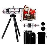 Yarrashop 18X Handy Teleobjektiv Zoom iPhone Kamera Linse Zubehör HD optischer Zoom Lens Aufsatz Set mit Zeiss für iPhone X / 8 Plus 7 Plus /6s Plus / 6 Plus/ 8/7 / 6S / 6