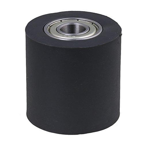 Yibuy Kunststoff Stahl versiegelt Kettenzug Rollo Oberschiene Kugellager Rad Leitrolle, 0.8 x 3 x 3cm/0.31 x 1.18 x 1.18 inch(ID x OD x H) - Stahl-oberschiene