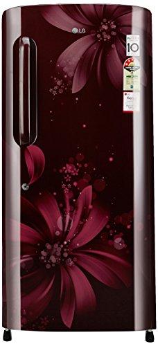 LG 190 L 3 Star Direct-Cool Single Door Refrigerator (GL-B201ASAW.ASAZEBN, Scarlet Aster)