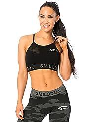 SMILODOX Seamless Sport-BH Damen | Fitness-BH ohne Bügel | Starker halt im Training - Bustier ideal für Yoga Gym Fitness & Workout - Soft Büstenhalter - Sports Bra