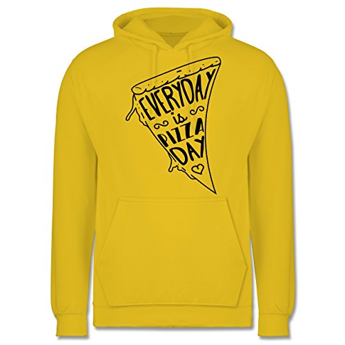 Statement Shirts - Everyday is Pizza Day - Männer Premium Kapuzenpullover / Hoodie Gelb