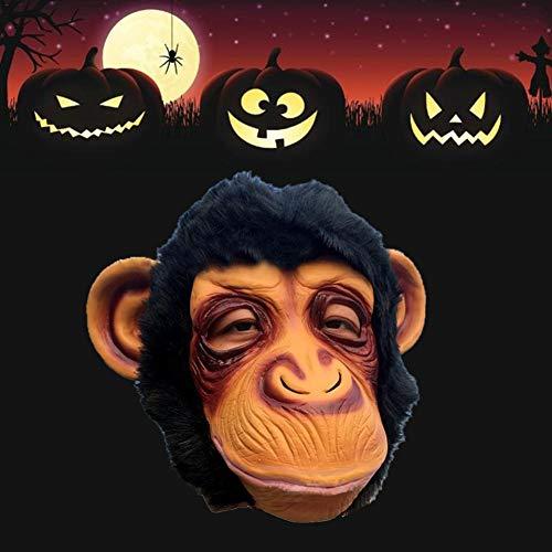 keng Tiermaske, Orang-Utan Maske Vollgesichtsmaske Neuheit Halloween Kostüm Party Tierkopf Maske Schimpanse für Erwachsene