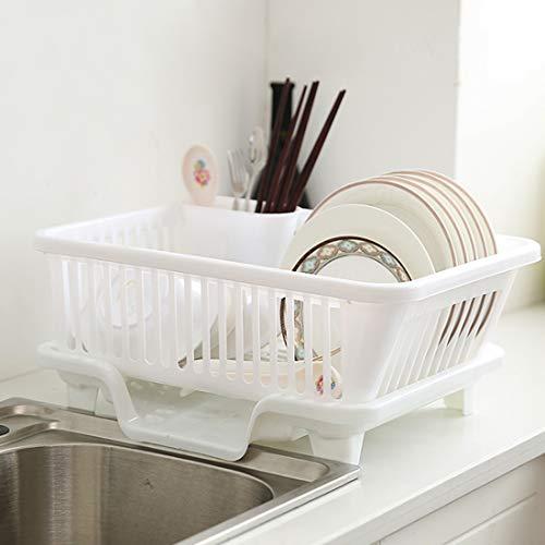 WEIZQ Kunststoff Abtropfgitter Geschirr Abtropfkorb Abtropfständer Geschirrabtropfständer für Teller und Besteck