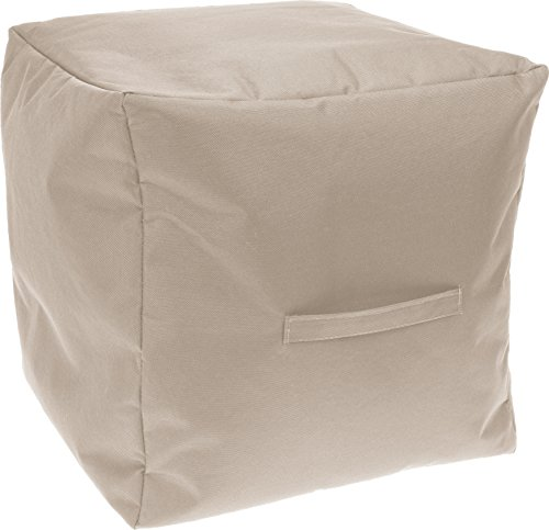 Hocker Sitzkissen Sitzsack Outdoor Würfel 40x40x40 cm khaki