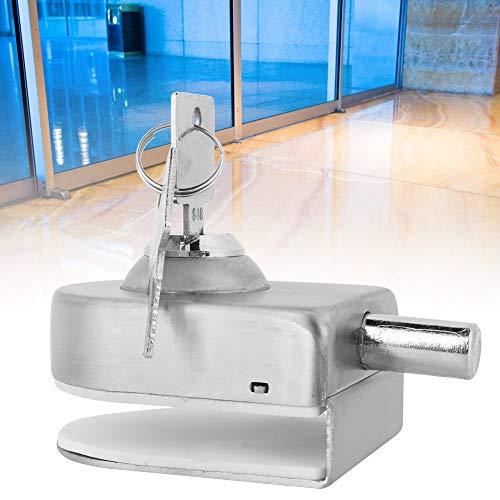 41EG1iNa3AL - Cerradura de Puerta de Cristal, Cerradura de la Puerta de Acero Inoxidable Vidrio Pestillo para el Hogar Accesorios de Baño