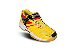 Kwickk Mens Imported PU Professional BADMINTON Shoes YELLOW 12 UK