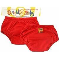 Motores de búsqueda brillantes - aprendizaje Bragas, paquete doble, S, 12-18 meses Color: Rojo