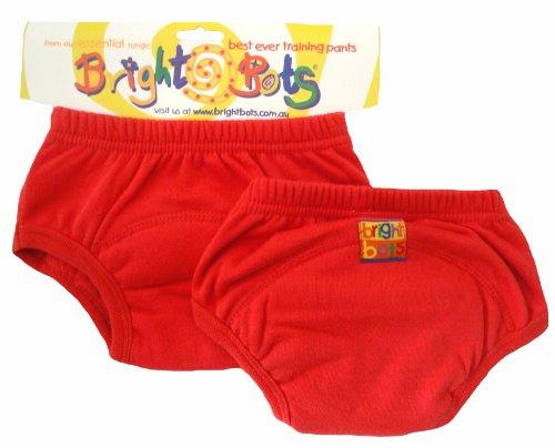 Bright Bots Unterhose für Töpfchentraining, Gr. L / 24-30 Monate, Rot, 2 Stück