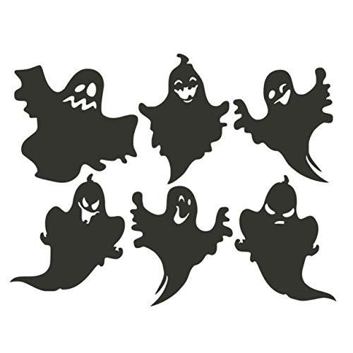 guantongda Fashion Halloween Ghost Wandsticker Haushalt Zimmer Wandaufkleber Abnehmbare Wanddekoration Schönheit für Zuhause Dekoration - Schwarz