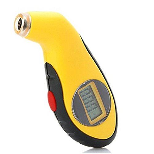 Digital-Reifen-Druckanzeiger-Auto-LKW-Gebirgsfahrrad 150 Psi ergonomisches Entwurfs-Gelb-Schwarzes (Ordinary)