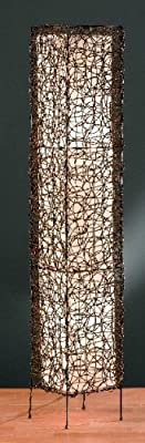Trio 4056021-00 Rattan-Stehleuchte, eckig, mit cremefarbigem Innenschirm von Trio Leuchten auf Lampenhans.de