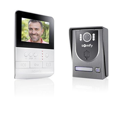 Somfy - Visiophone V100 Blanc avec écran 4 Pouces