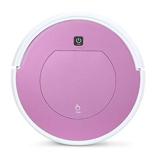 E-KIA Aspiradora Robot De Limpieza,Aspirador EléCtrico Ultrafino, Carga AutomáTica, Adecuado, Pink