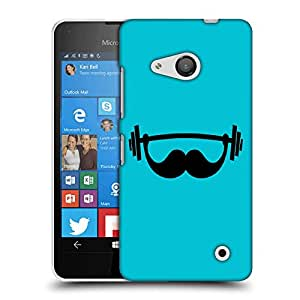 Snoogg Mustahce Gym Designer Protective Back Case Cover For LUMIA 550