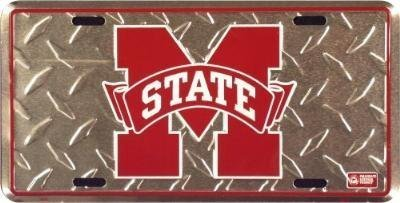 Mississippi State Diamond Cut NCAA Tin License Plate by License Plate Shop