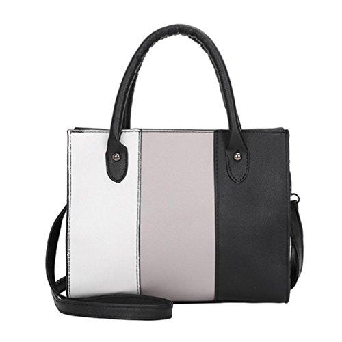 Schultertasche Damen TUDUZ Handtasche PU-Leder Beuteltasche Shopper Umhängetasche Tasche (Grau)