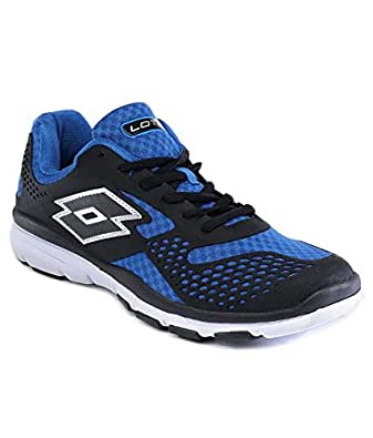 Lotto Men's College IV Black and Royal Mesh Running Shoes - 8 UK/India (42 EU)