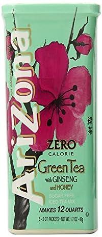 Arizona Sugar Free Green Tea w/ Ginseng Iced Tea Mix, 1.7 Oz (3 Pack)