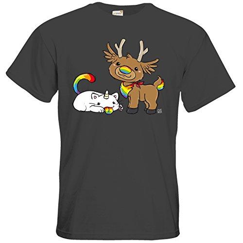 getshirts - Crapwaer - T-Shirt - Purricorn Raindolph Dark Grey
