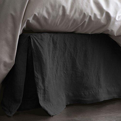 BLANC CERISE Cache sommier en Lin lavé 140 x 200 cm