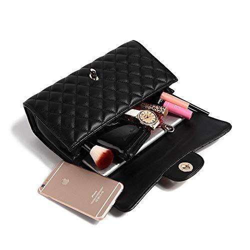 YZJLQML Lady bagsShoulder Messenger Bag_Manufacturer 2018 New Damentasche Europa und Amerika Classic Lady Bag Ling Plaid One Shoulder @Gold (Lady Von Amerika)