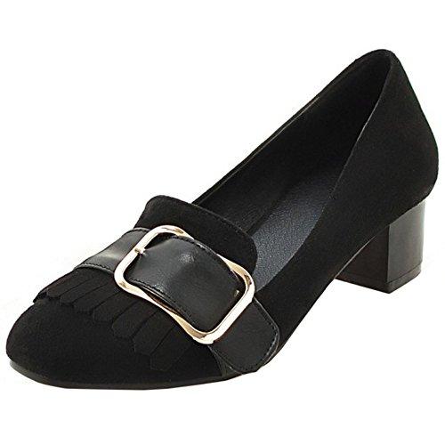 TAOFFEN Damen Klassischer Blockabsatz Pumps Schuhe