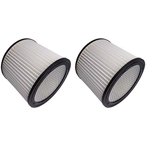 2 Nass-Trockensauger Faltenfilter Filter passend für Tarrington House WVC3500 Staubsauger inkl. 1 Rolle 16l Abfallbeutel